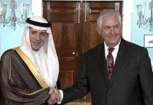 رکس تیلرسون وزیر خارجه آمریکا و عادل الجبیر-min