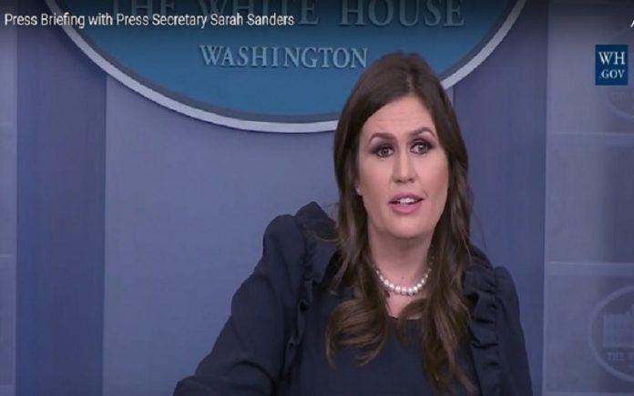 سارا سندرز، سخنگوی کاخ سفید،1-min