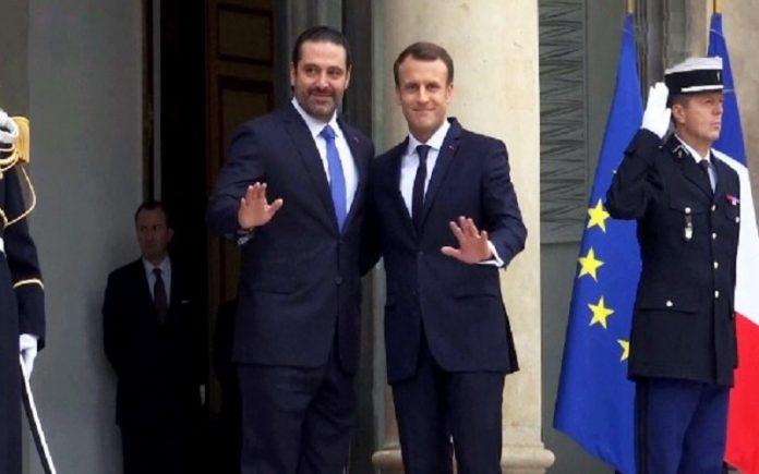 دیدار امانوئل ماکرون و سعد حریری در پاریس-min