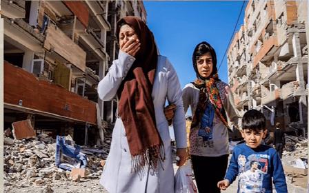 وضعیت مردم زلزله زده