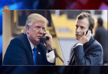 گفتگوی تلفنی روسای جمهور آمریکا و فرانسه-min