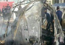 آتش_سوزی چادر زلزله_زدگان-min