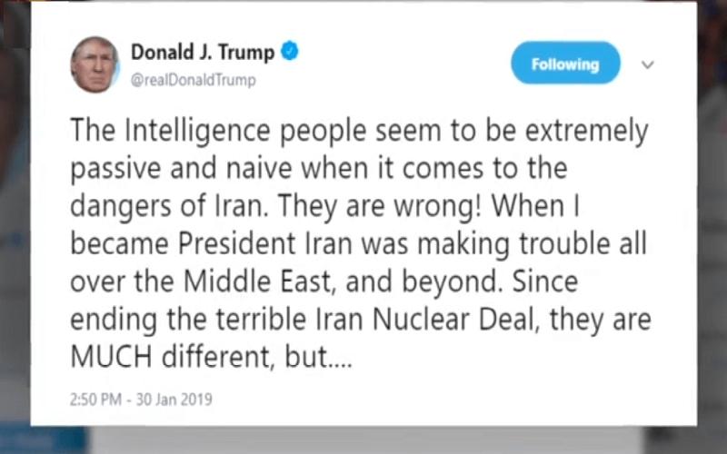 هشدار رئیس جمهور آمریکا در باره برنامه موشکی رژیم آخوندی