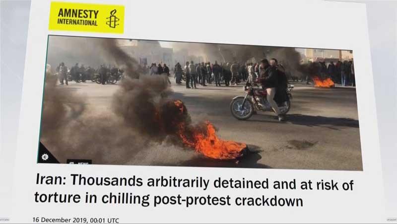 جنایات رژیم ایران درگزارش عفو بین الملل