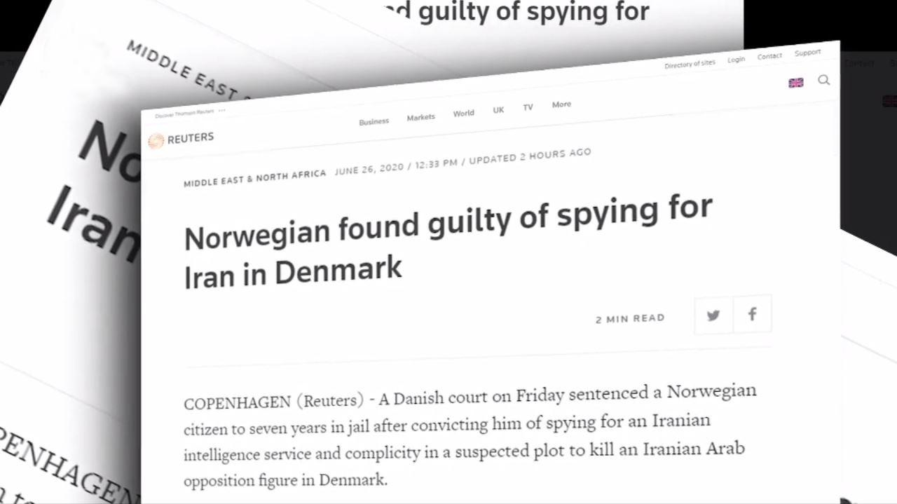 محکومیت یکمزدور وزارتاطلاعاتآخوندها دردانمارک بهجرمخدمات جاسوسیوتروریستی