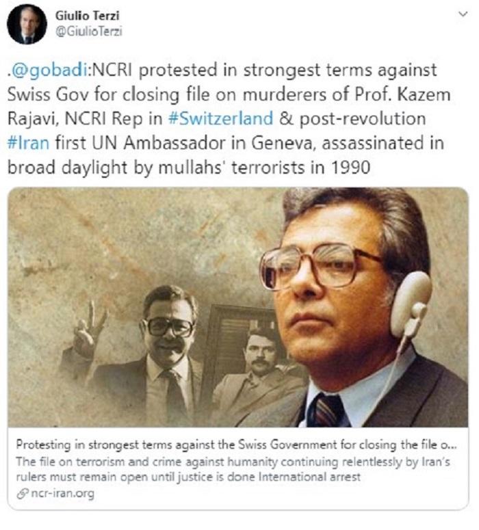 گزارش کارزار علیه مختومه شدن پرونده دکتر کاظم رجوی- ۲۴خرداد۹۹- ۱۳ژوئن۲۰