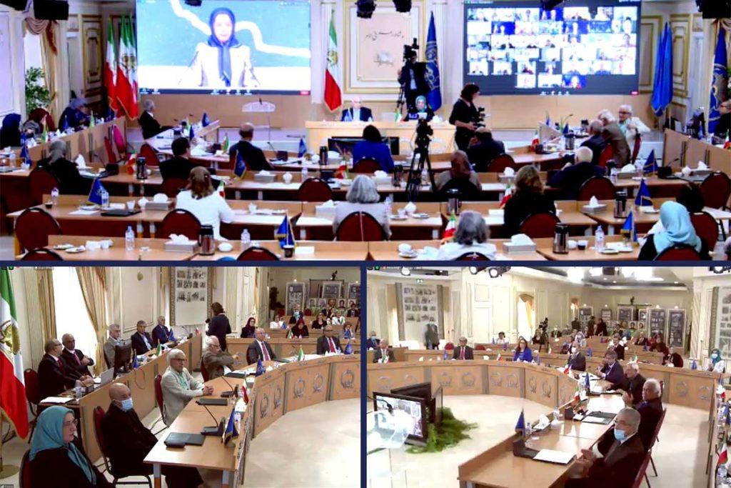 سخنرانی مریم رجوی دراجلاس شورای ملی مقاومت، جایگزین دمکراتیک و راه حل برای آینده ایران