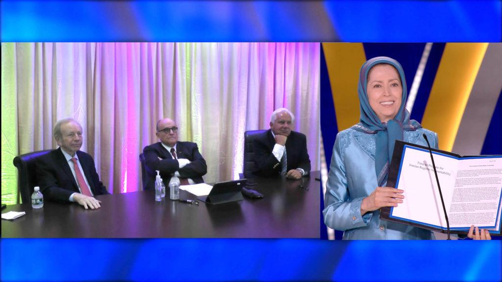 سخنرانی رودی جولیانی درکنفرانس بینالمللی اینترنتی ایران آزاد با سیهزار نقطه درجهان