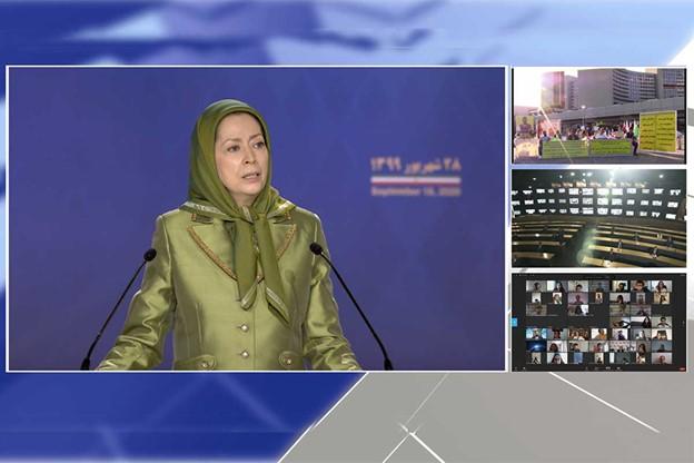 مریم رجوی؛ حقوق بشر برای مردم ایران، تحریم همهجانبه دیکتاتوری دینی و بهرسمیت شناختن مقاومت و نبرد شورشگران برای آزادی