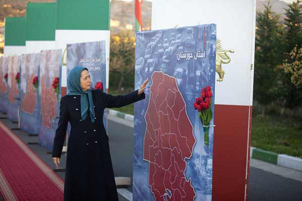 مریم رجوی ادای احترام به شهدای قیام در استانهای بپاخاسته میهن