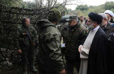آخوند رئیسی در بازدید از مواضع حزب الشیطان در لبنان