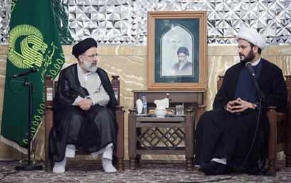 ابراهیم رئیسی و اکرم الکعبی سرکرده گروه تروریستی النجباء عراق