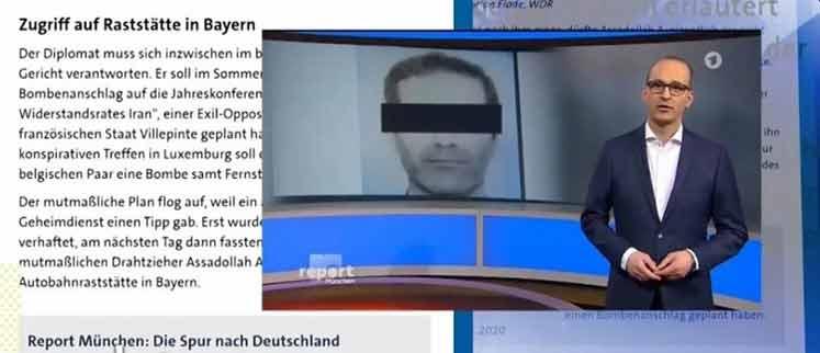گزارش سایت شبکه تلویزیونی مونشن آلمان از دادگاه اسدالله اسدی
